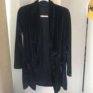 Women's velvet pocketed jacket